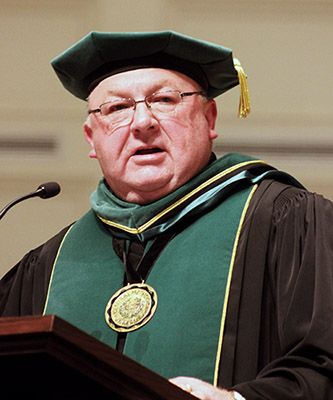 President Drake at Commencement